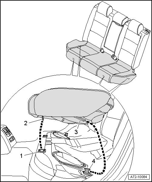 Как снять заднее сиденье ауди а4