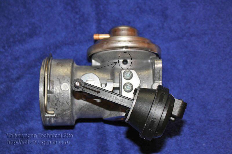 Клапан EGR, рециркуляции газов на Audi Q7
