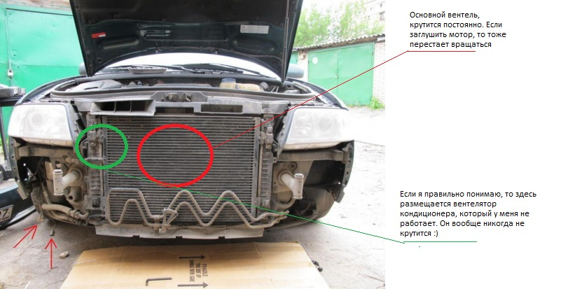 постоянно работают вентиляторы охлаждения двигателя audi a6 c6