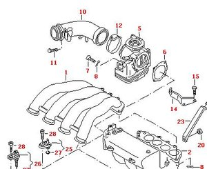 Схема вентиляции картера на а6