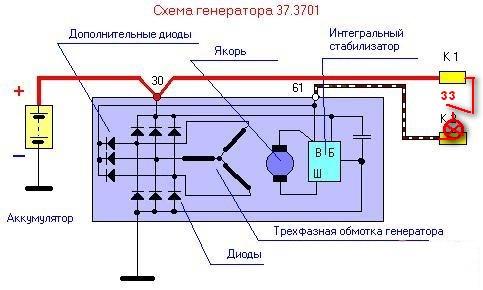 Вот схема генератора с шестью